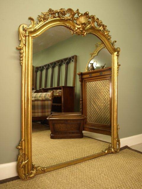 Antiques Atlas – A Large Ornate Victorian Giltwood Mirror With Ornate Antique Mirrors (#8 of 15)