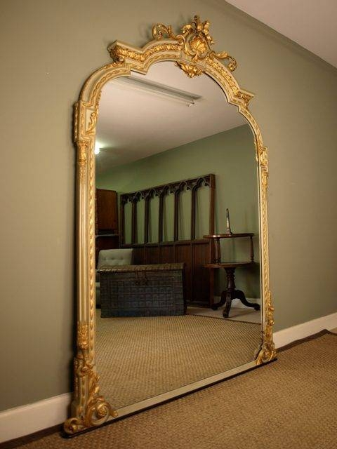 Antiques Atlas – A Large Victorian Gilt And Painted Wall Mirror For Large Gilt Mirrors (#8 of 20)