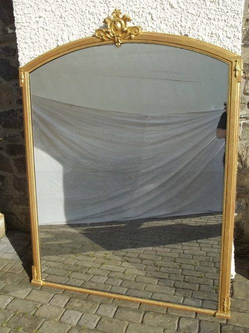 Antiques Atlas – Antique Large Gilt Wood Overmantle Mirror Intended For Wooden Overmantle Mirrors (#13 of 30)
