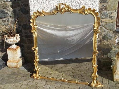 Antiques Atlas – Antique Regency Gilt Overmantel Mirror Intended For Antique Gilded Mirrors (View 11 of 20)