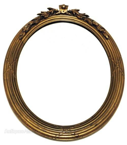 Antiques Atlas – Early 20C Gilt Framed Garland Oval Mirror With Regard To Gilt Edged Mirrors (#7 of 20)