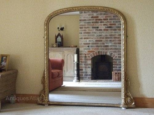 Antiques Atlas – English Antique Giltwood Overmantle Mirror C1860 Within Large Overmantle Mirrors (View 5 of 30)