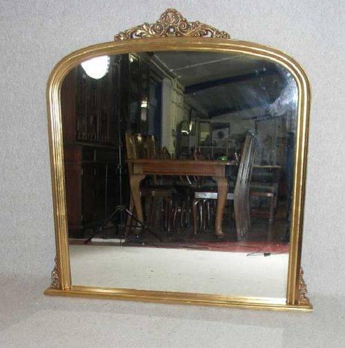 Antiques Atlas – Gilt Over Mantle Mirror Regarding Vintage Overmantle Mirrors (View 9 of 20)