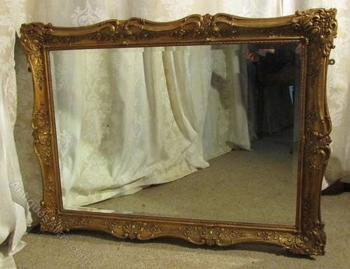 Antiques Atlas – Large 19Th Century Gilt Wall Mirror In Large Gilt Mirrors (#9 of 20)