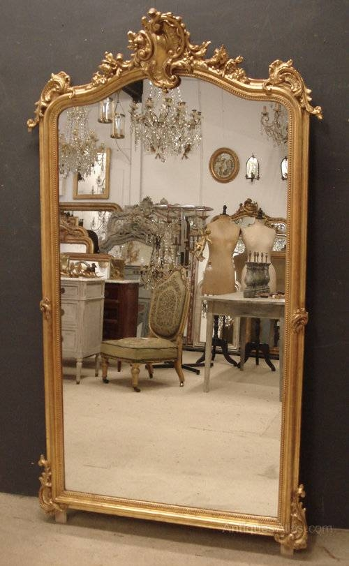 Antiques Atlas – Large Antique French Mirror In Large Antiqued Mirrors (#9 of 20)
