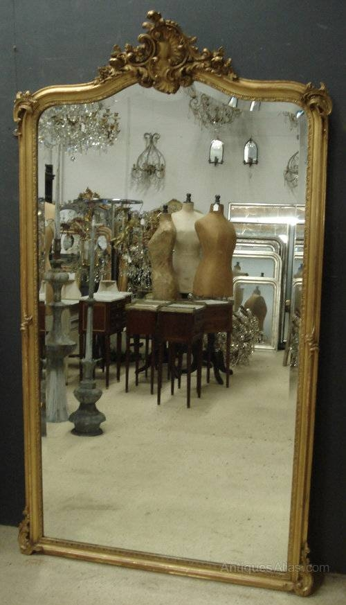 Antiques Atlas – Large Antique French Mirror Inside Large Antiqued Mirrors (#10 of 20)