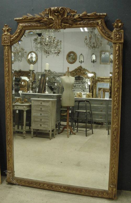 Antiques Atlas – Large Antique French Mirror Inside Large French Mirrors (View 13 of 20)