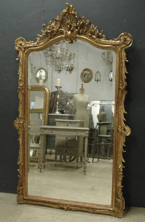 Antiques Atlas – Large Antique French Mirror Intended For Large Antiqued Mirrors (#12 of 20)