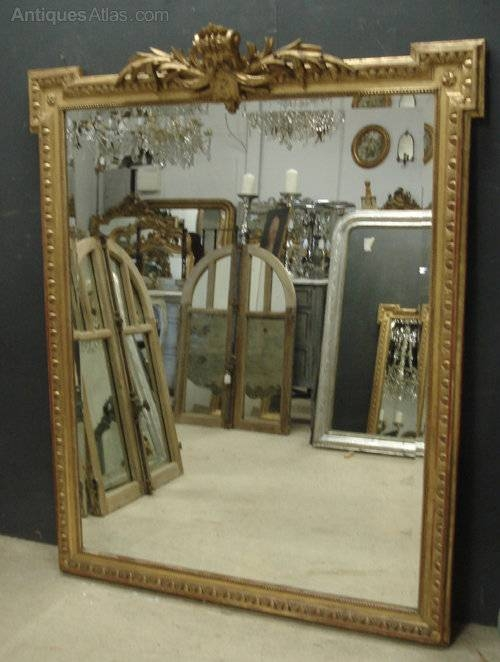 Antiques Atlas – Large Antique French Mirror Intended For Large Antiqued Mirrors (#11 of 20)
