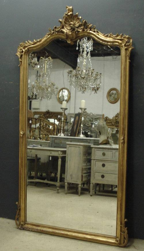 Antiques Atlas – Large Antique French Mirror Regarding Large Antique Mirrors (#13 of 30)