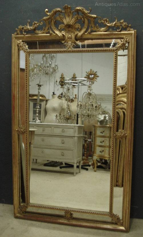 Antiques Atlas – Large Antique French Mirror Within Large Antique Mirrors (#15 of 30)