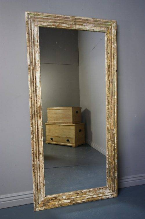 Antiques Atlas – Large Antique Painted Pine Architrave Mirror (#6 of 30)