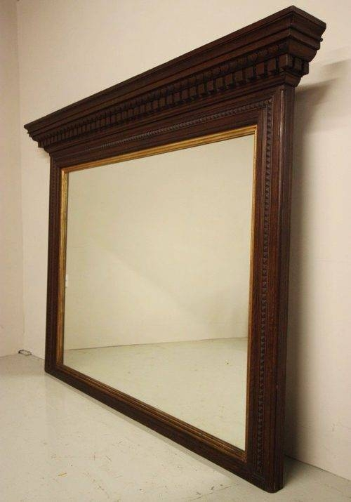 Antiques Atlas – Large English Antique Oak Overmantle Mirror (#15 of 30)
