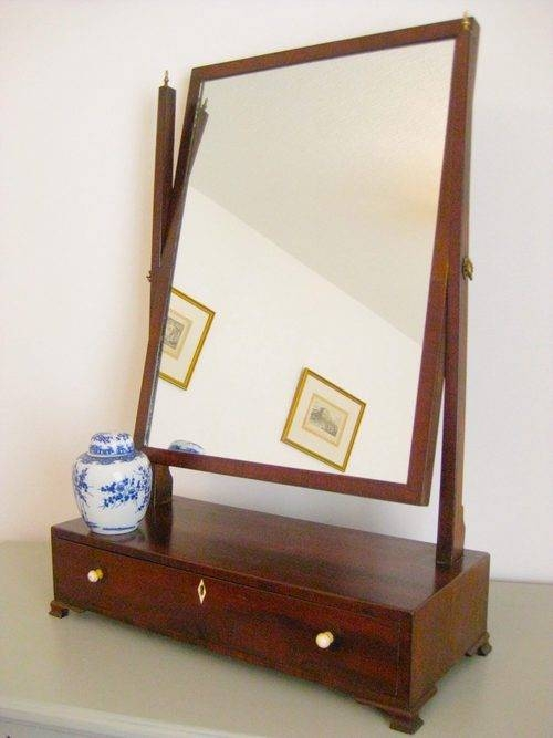Antiques Atlas – Large Mahogany Toilet/dressing Table Mirror Inside Dressing Table With Long Mirrors (View 3 of 15)