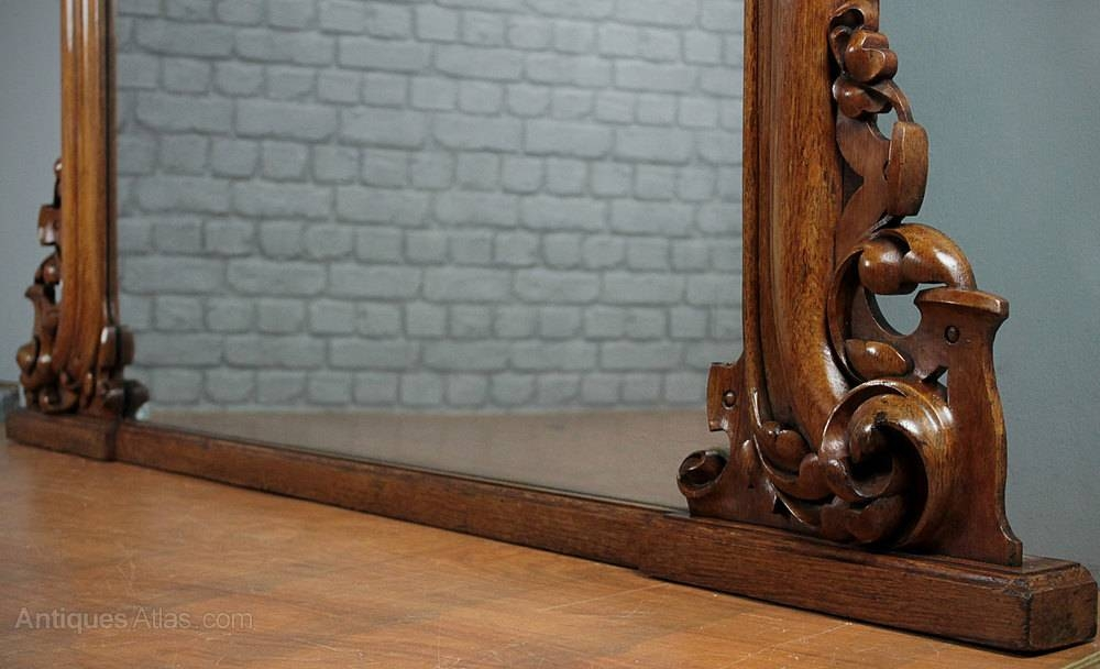 Antiques Atlas – Large Oak Overmantle Mirror C. (#16 of 30)