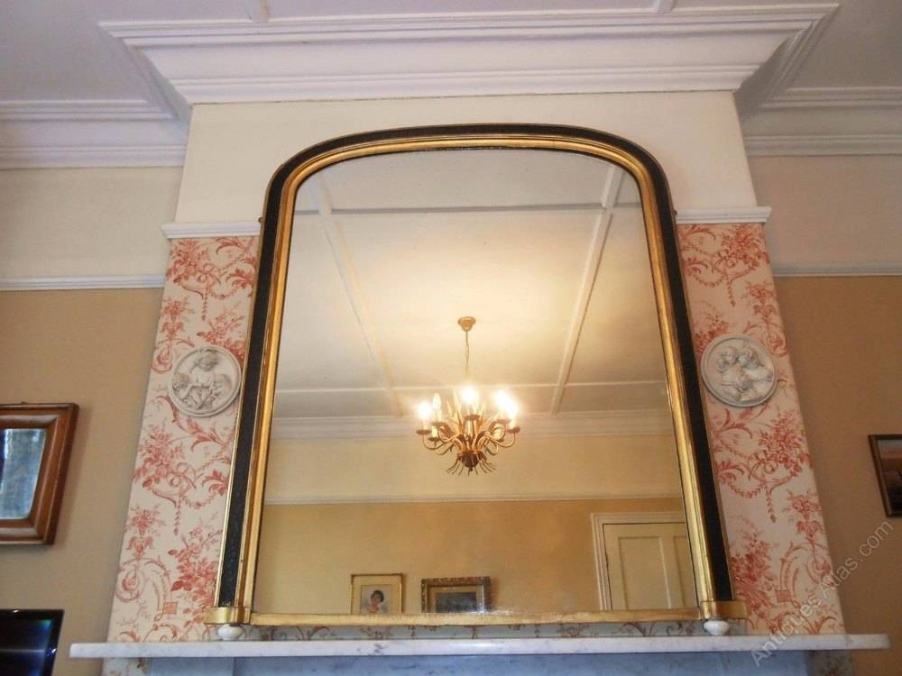 Antiques Atlas – Large Victorian Gilt & Ebonised Overmantle Mirror With Large Overmantle Mirrors (View 26 of 30)