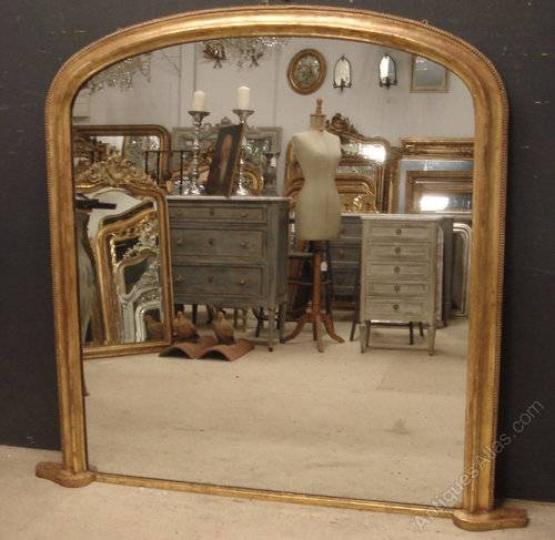 Antiques Atlas – Large Victorian Overmantle Mirror Regarding Large Mantel Mirrors (#9 of 30)