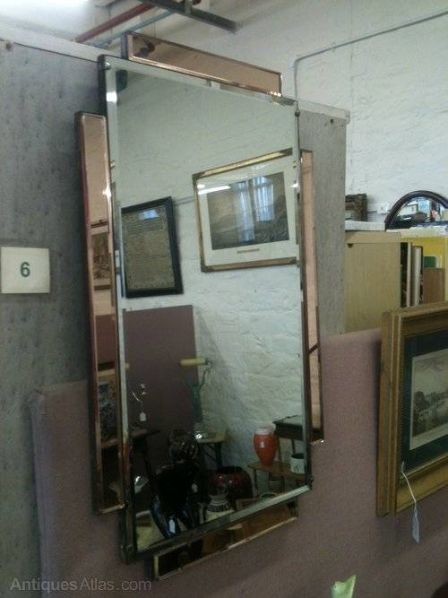 Antiques Atlas – Rectangular Art Deco Wall Mirror Throughout Antique Art Deco Mirrors (#13 of 20)