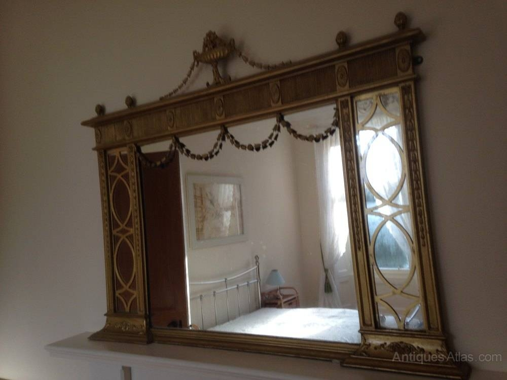 Antiques Atlas – Regency Gilt Overmantle Mirror Pertaining To Over Mantle Mirrors (#6 of 30)