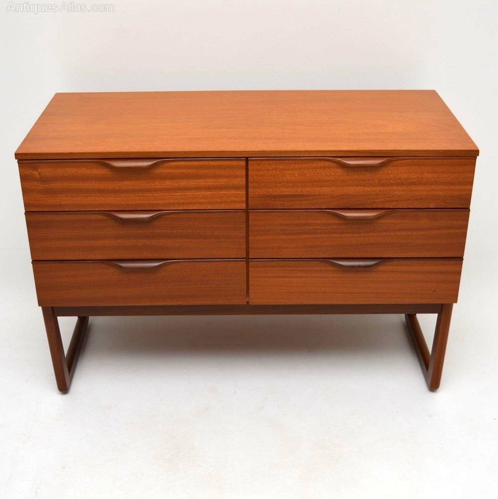 Antiques Atlas – Retro Mahogany Sideboard / Chest Of Drawers Pertaining To Retro Sideboards (#2 of 20)