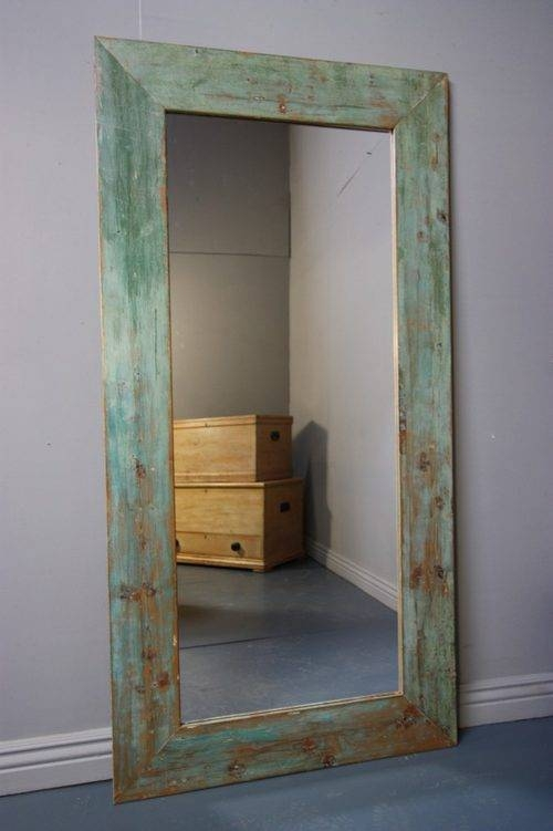 Antiques Atlas – Tall 19Th Century Antique Painted Pine Mirror With Antique Long Mirrors (#4 of 20)