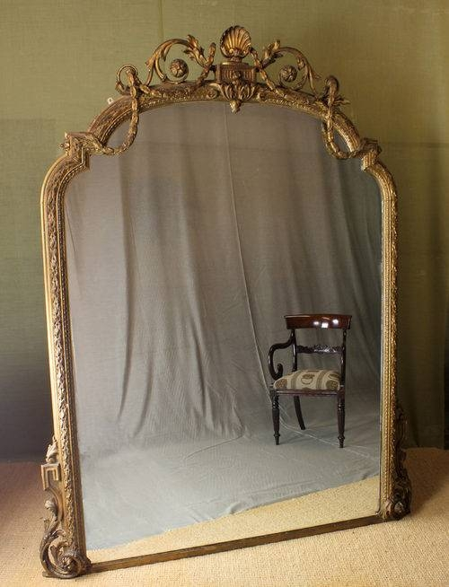 Antiques Atlas – Very Large 19Th.c. Gilded Overmantle Mirror (View 9 of 30)