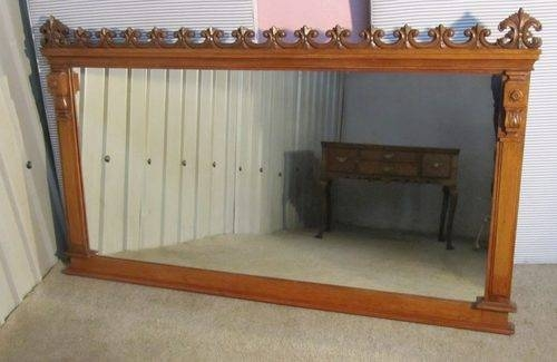 Antiques Atlas – Very Large Victorian Carved Oak Over Mantle Mirror With Regard To Wooden Overmantle Mirrors (#17 of 30)