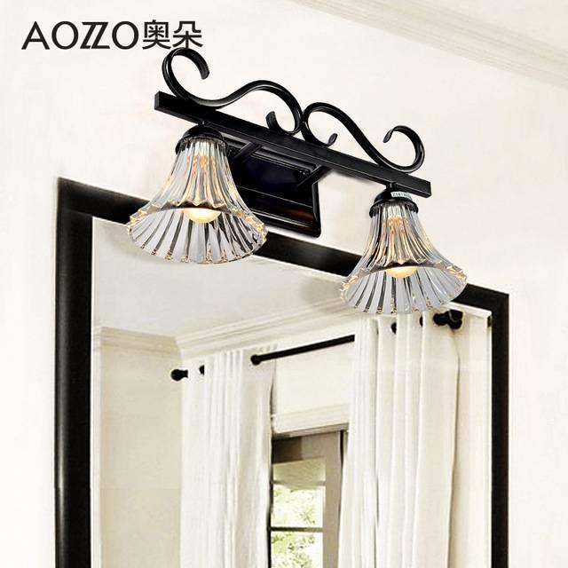 Ao Duoou Style Wrought Iron Bathroom Mirror Front Lamps Bathroom With Wrought Iron Bathroom Mirrors (#10 of 30)
