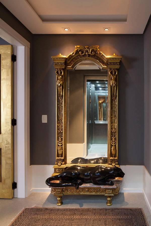 Apartment: Porcelain Basin Gold Mirror Frame Antique Mirrors Grey For Expensive Mirrors (#4 of 20)