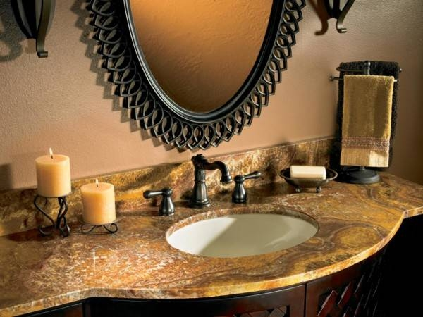 Appealing Rustic Bathroom Double Sink Vanities Adheredsolid Within Wrought Iron Bathroom Mirrors (#11 of 30)