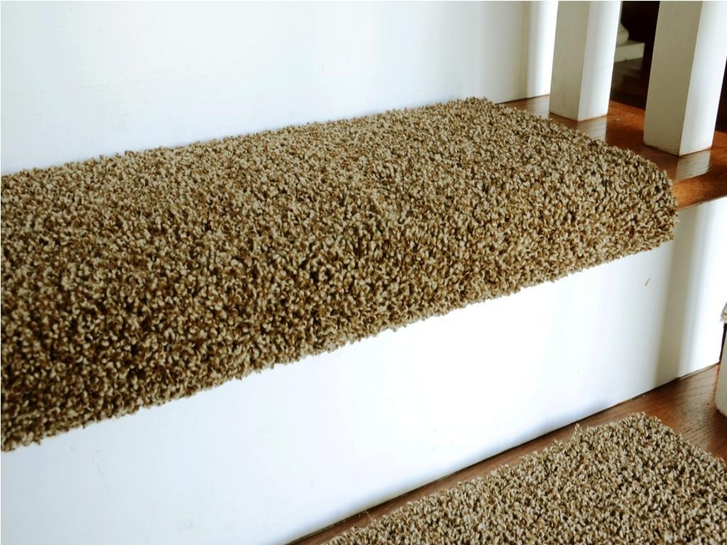 Applying Carpet Stair Treads To Increase The Beauty House With Regard To Stair Tread Rug Liners (View 12 of 20)