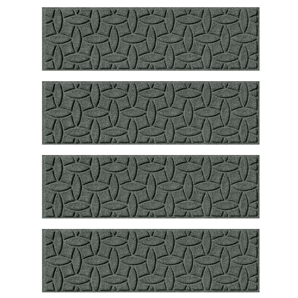 Aqua Shield Charcoal 85 In X 30 In Ellipse Stair Tread Set Of With Regard To Traction Pads For Stairs (View 14 of 20)