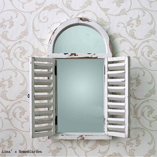 Arch Shutters Promotion Shop For Promotional Arch Shutters On With Regard To Wall Mirrors With Shutters (View 16 of 20)
