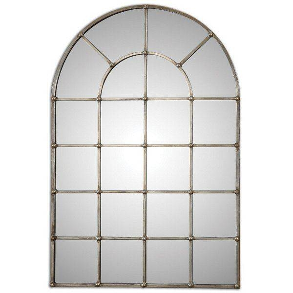 Arched Window Mirror | Ebay In White Arched Window Mirrors (#5 of 20)