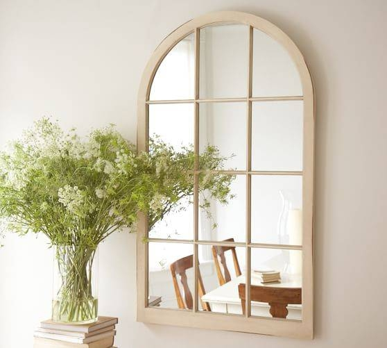 Arched Window Mirror | Pottery Barn Throughout Window Arch Mirrors (View 3 of 20)