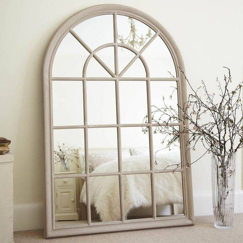 Arched Window Pane Mirror 132 Beautiful Decoration Also Distressed Regarding White Arch Mirrors (#10 of 30)