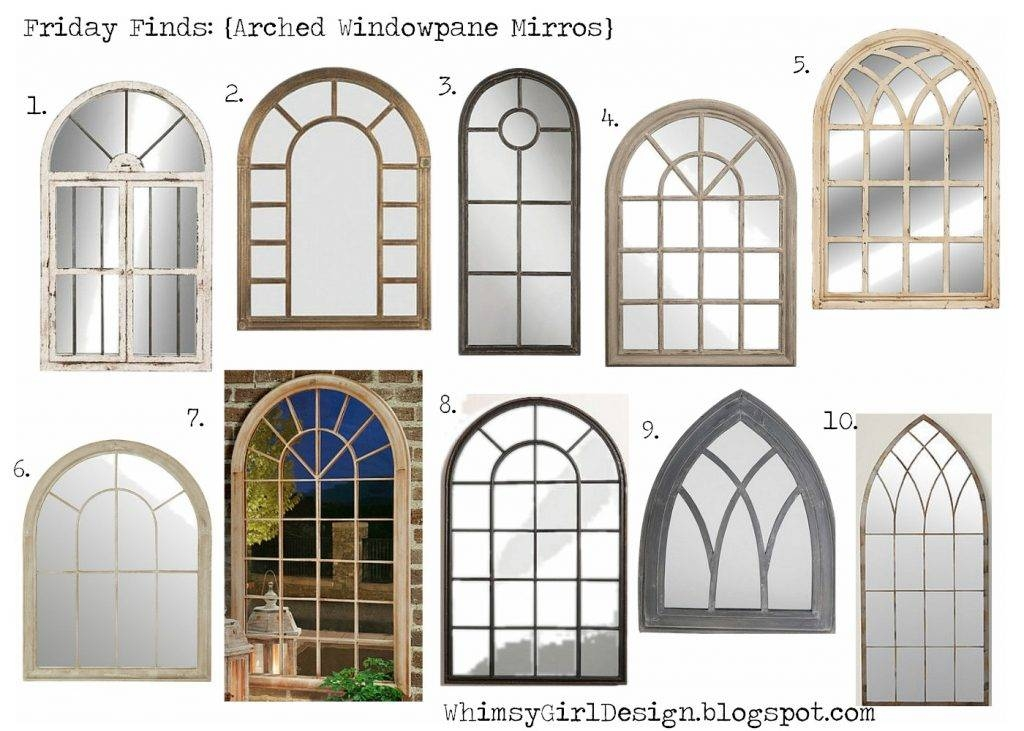 Arched Window Pane Mirror 38 Inspiring Style For White Arched For White Arched Window Mirrors (#10 of 20)
