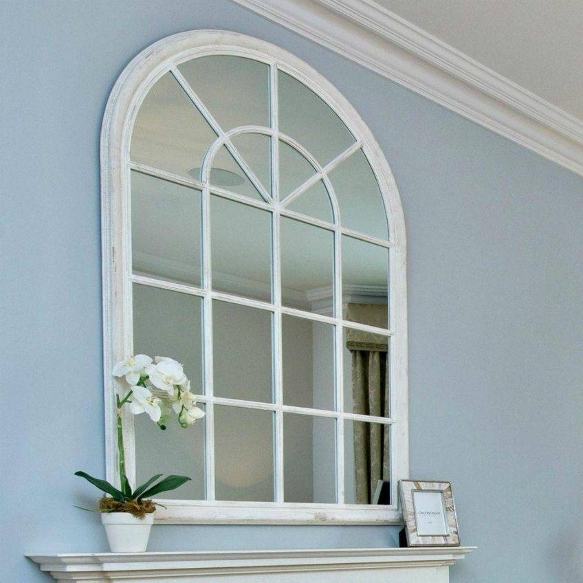Popular Photo of White Arched Window Mirrors