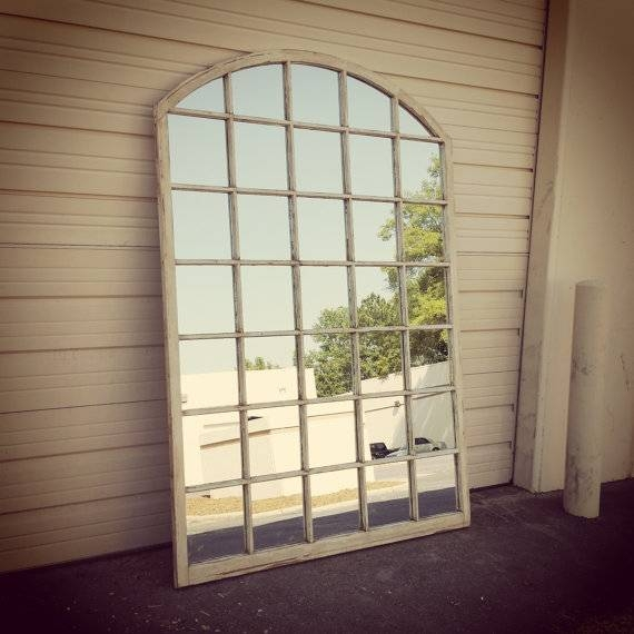 Arched Window Pane Mirror Arched Window Mirror White Window With White Arch Mirrors (#11 of 30)