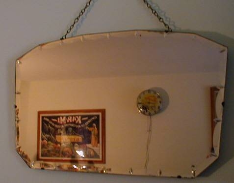 Art Deco Antique And Collectible Glassware Throughout Vintage Bevelled Edge Mirrors (#15 of 30)
