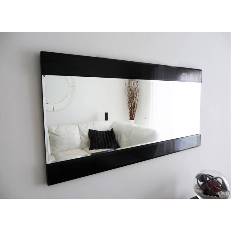Art Deco 'horizon' Mirror With Black Glass 122X61Cm Art Deco Inside Art Deco Wall Mirrors (#3 of 20)
