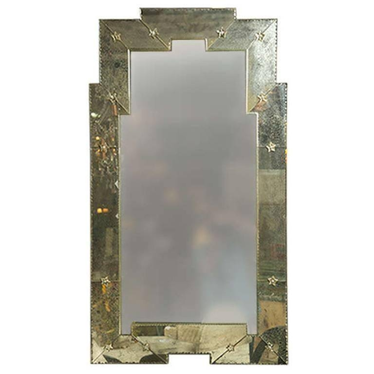 "Art Deco"" Style Distressed Venetian Mirror At 1Stdibs For Art Deco Style Mirrors (#9 of 20)"