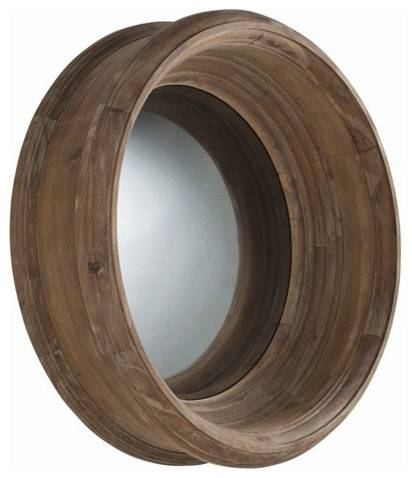 Arteriors Home Troy Acacia Solids Convex Mirror – Arteriors Home With Regard To Round Convex Wall Mirrors (#11 of 30)