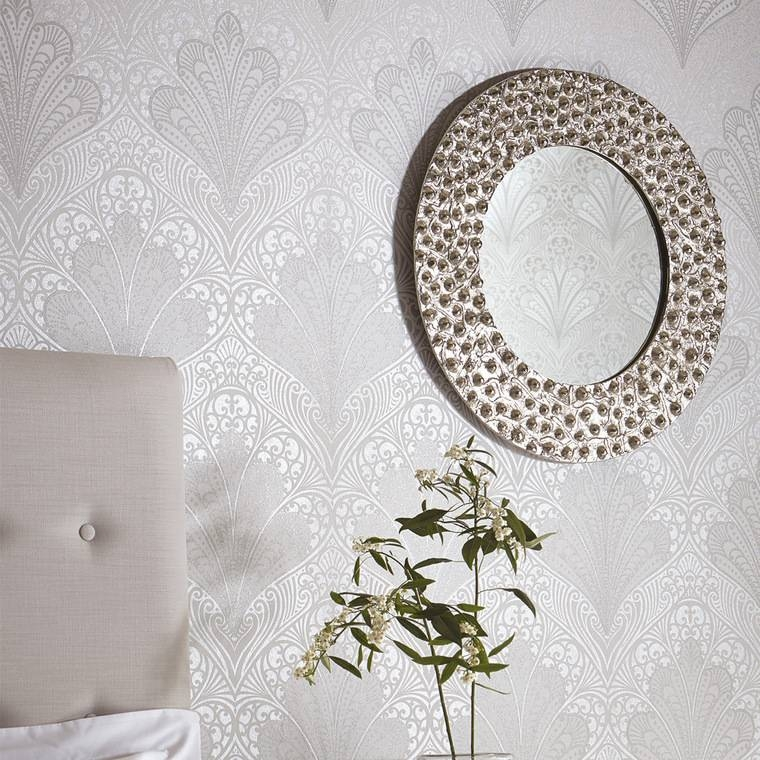 Arthouse Boutique Tondo Mirror Silver 008289 Arthouse | Select With Regard To Boutique Mirrors (View 23 of 30)