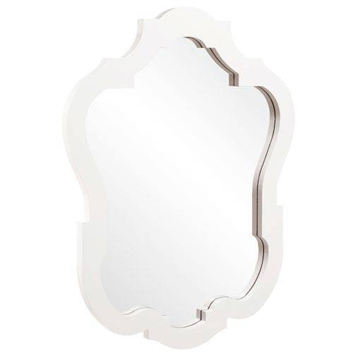 Asbury Glossy White Oval Mirror Howard Elliott Collection Wall In Oval White Mirrors (#7 of 30)