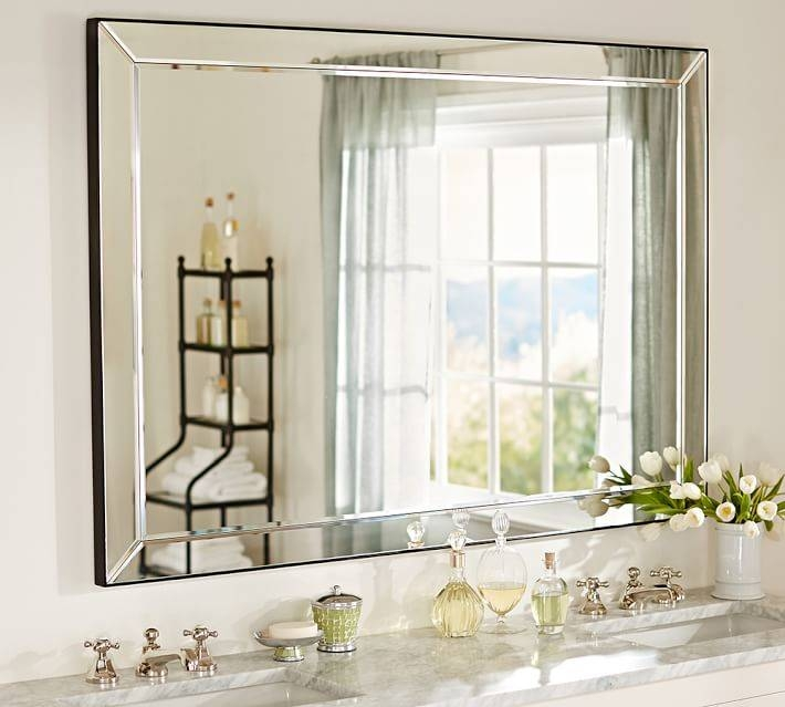 Astor Double Width Mirror | Pottery Barn Regarding Double Bevelled Mirrors (View 4 of 30)