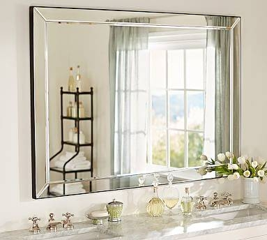 Astor Double Width Mirror | Pottery Barn With Bevelled Bathroom Mirrors (#3 of 20)