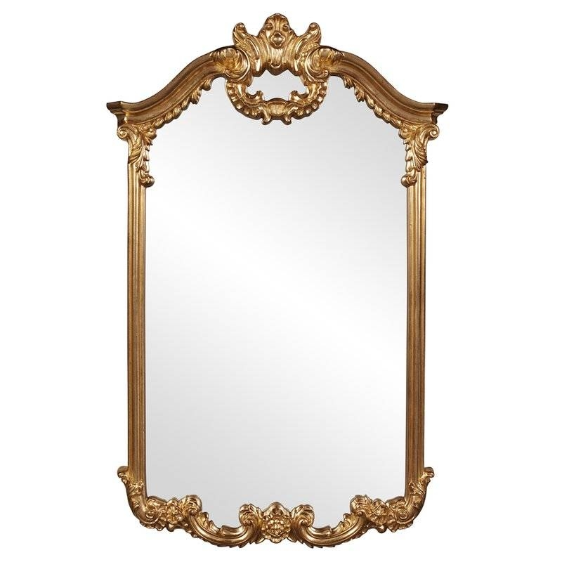 Astoria Grand Arch/crowned Top Bright Gold Wall Mirror & Reviews Within Gold Wall Mirrors (View 18 of 30)