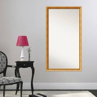 Astoria Grand Gold Framed Full Length Mirror | Wayfair Throughout Gold Full Length Mirrors (#3 of 30)