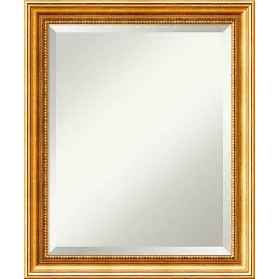 Astoria Grand Hendry Gold Wall Mirror & Reviews | Wayfair Intended For Gold Wall Mirrors (View 30 of 30)
